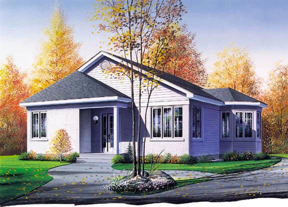 Traditional House Plan 64999 Elevation