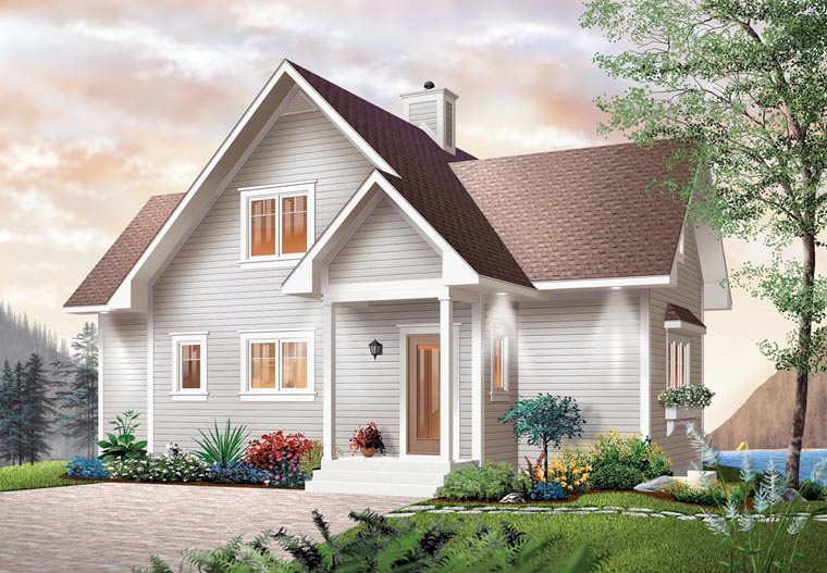 Bungalow Coastal Country Craftsman House Plan 65001 Elevation