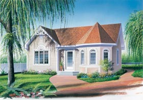 Victorian House Plan 65005 with 2 Beds, 1 Baths Elevation