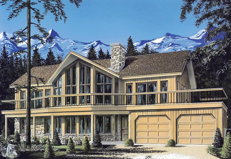 Contemporary Craftsman Traditional Elevation of Plan 65008