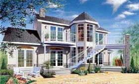 House Plan 65012 | Country Traditional Victorian Style Plan with 1922 Sq Ft, 3 Bedrooms, 3 Bathrooms Elevation
