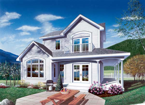 Country Farmhouse Elevation of Plan 65013