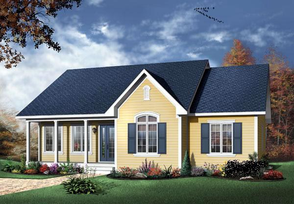 Bungalow Traditional House Plan 65014 Elevation