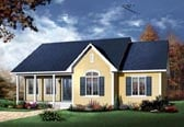 Plan Number 65014 - 1378 Square Feet