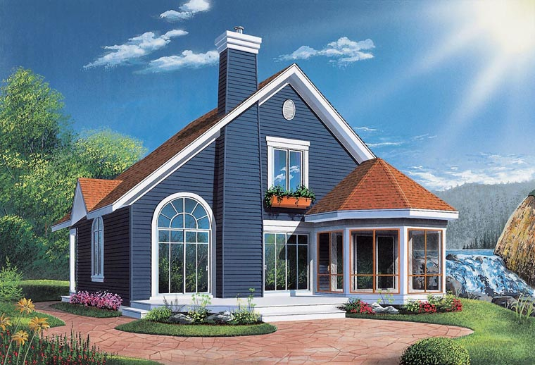 Victorian , Contemporary , Bungalow House Plan 65015 with 3 Beds, 2 Baths Elevation