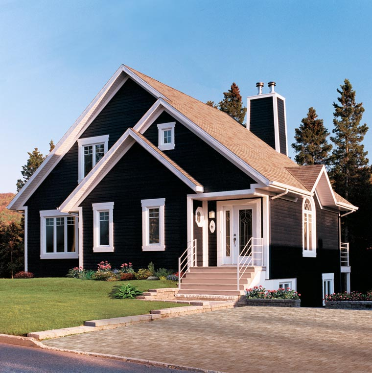 Bungalow Contemporary Victorian House Plan 65015