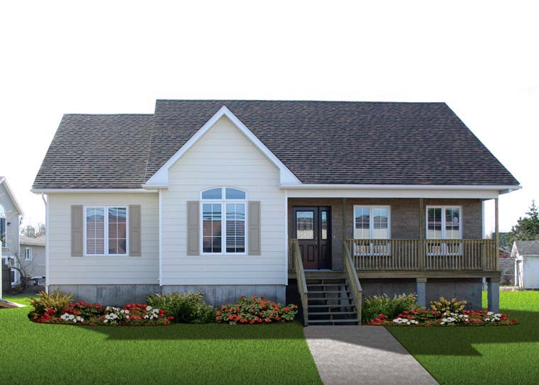 Country House Plan 65016 with 3 Beds, 1 Baths Picture 1