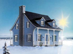 Bungalow Cape Cod Country House Plan 65023 Elevation