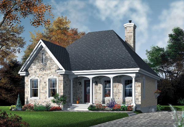 European House Plan 65027 Elevation