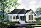 Plan Number 65031 - 1108 Square Feet