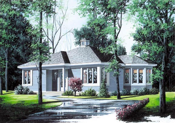 Contemporary House Plan 65033 Elevation