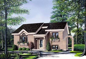Contemporary House Plan 65041 with 2 Beds, 1 Baths Elevation
