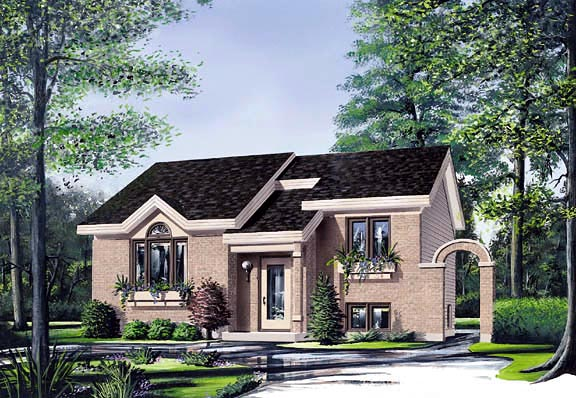 Contemporary House Plan 65041 Elevation