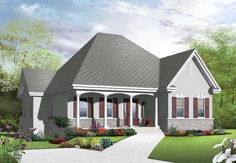 Country European House Plan 65042 Elevation