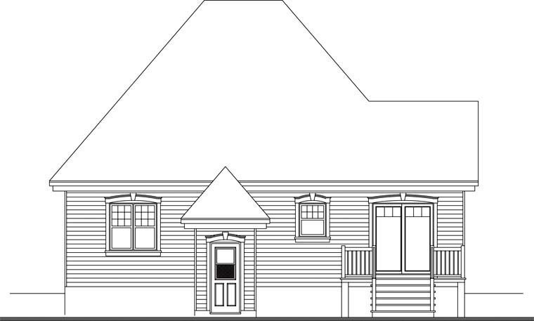 Country European House Plan 65042 Rear Elevation
