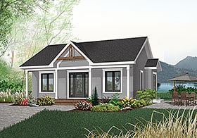 Cabin Country Ranch House Plan 65045 Elevation
