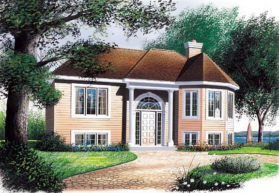 Victorian House Plan 65049 with 2 Beds, 1 Baths Elevation