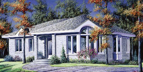 Contemporary European House Plan 65051 Elevation