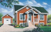 Plan Number 65052 - 896 Square Feet