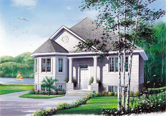 Cabin Country Ranch Victorian House Plan 65054 Elevation