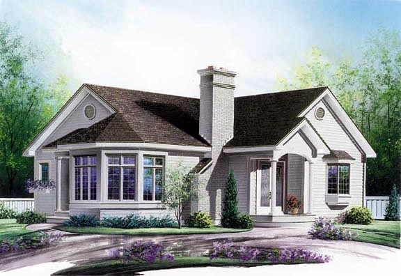 Country Traditional House Plan 65059 Elevation