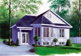 Victorian House Plan 65061 with 2 Beds, 1 Baths Elevation