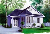 Plan Number 65061 - 975 Square Feet