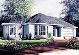 Plan Number 65062 - 1196 Square Feet
