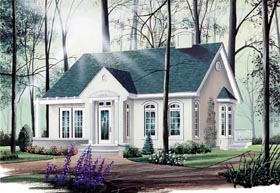 Cape Cod Ranch House Plan 65065 Elevation