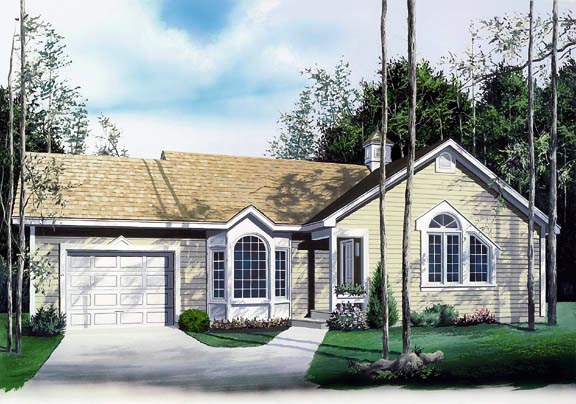 Ranch Traditional House Plan 65073 Elevation