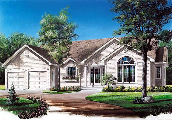 Ranch Traditional House Plan 65077 Elevation