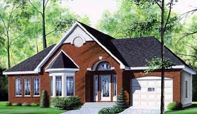 Plan Number 65080 - 1250 Square Feet