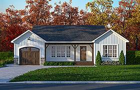 Traditional , European House Plan 65081 with 2 Beds, 1 Baths, 1 Car Garage Elevation