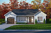 Plan Number 65081 - 1018 Square Feet