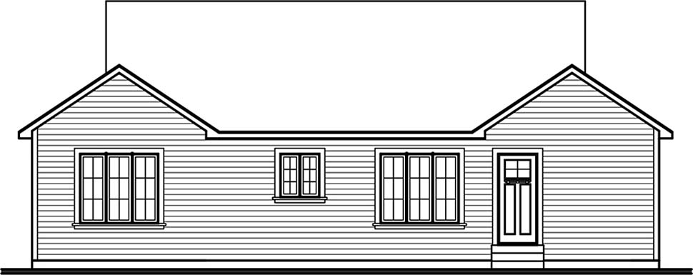European Traditional House Plan 65081 Rear Elevation