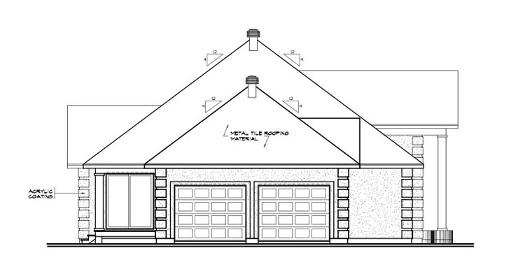Colonial, European, Florida House Plan 65083 with 3 Beds, 2 Baths, 2 Car Garage Picture 1