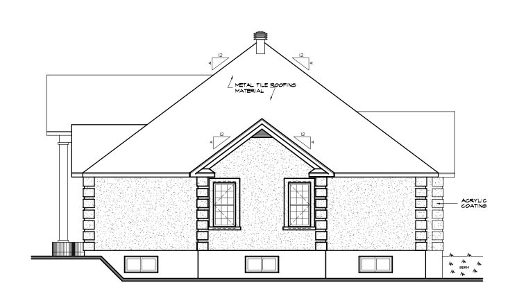 Colonial, European, Florida House Plan 65083 with 3 Beds, 2 Baths, 2 Car Garage Picture 2