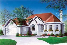 Traditional , Victorian House Plan 65085 with 2 Beds, 1 Baths, 1 Car Garage Elevation