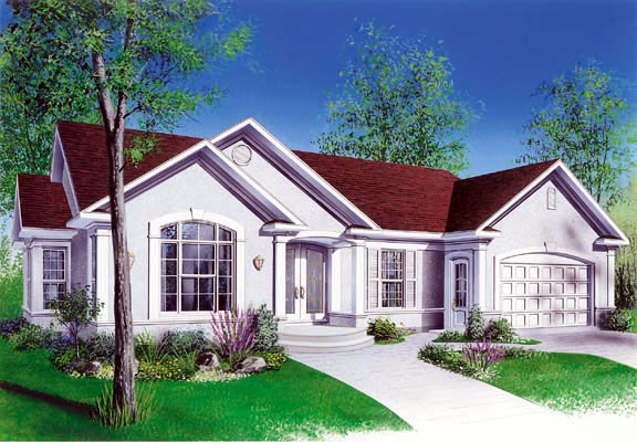 Bungalow Traditional House Plan 65086 Elevation