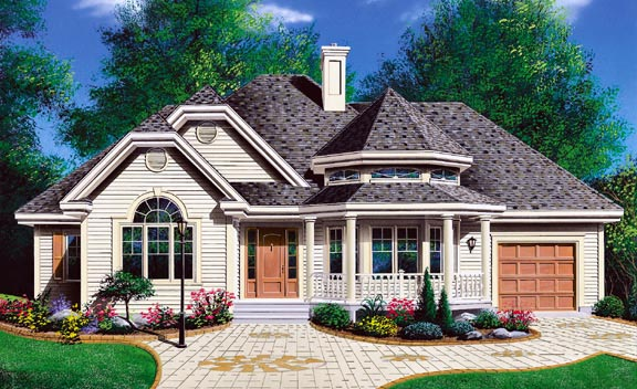 Bungalow Country Victorian House Plan 65096 Elevation
