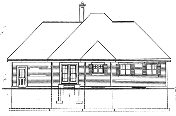 Bungalow Country Victorian House Plan 65096 Rear Elevation
