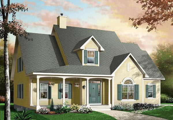 Country House Plan 65098 with 3 Beds, 3 Baths, 2 Car Garage Elevation