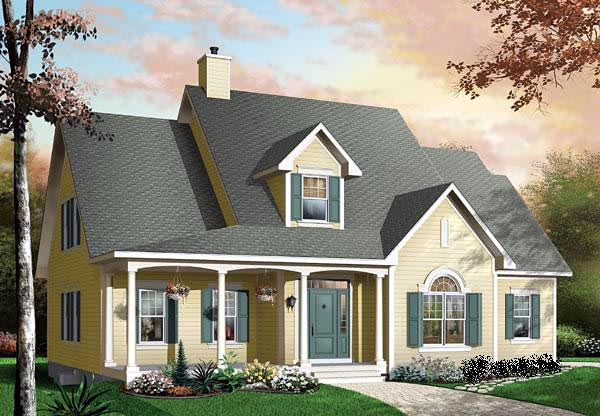 Traditional House Plan 65100 Elevation
