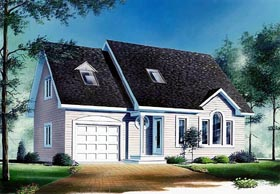 House Plan 65101 | Traditional Style Plan with 1558 Sq Ft, 3 Bedrooms, 2 Bathrooms, 1 Car Garage Elevation