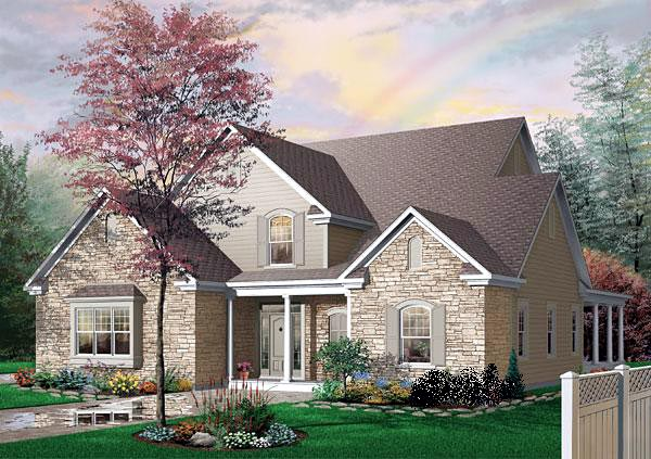 Traditional House Plan 65102 Elevation