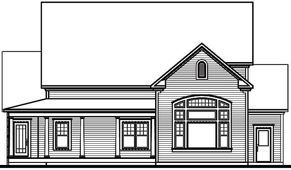 Traditional House Plan 65102 Rear Elevation