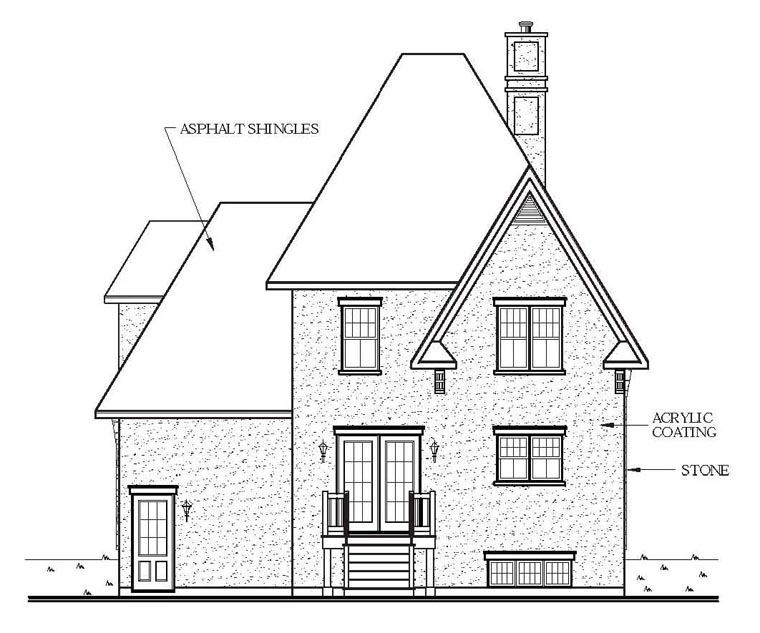 Victorian House Plan 65103 Rear Elevation