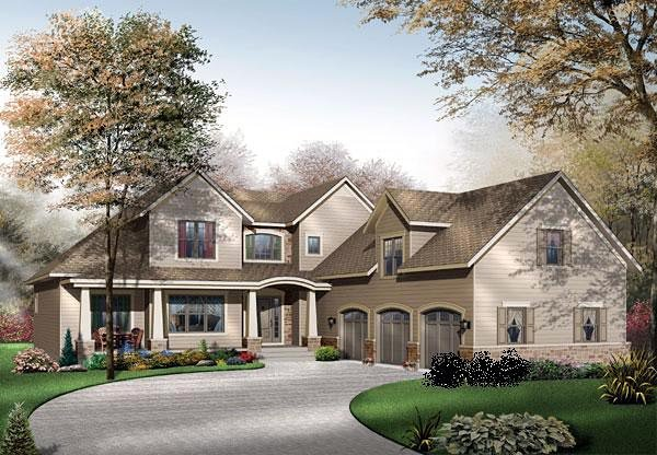 House Plan 65104 | Traditional Style Plan with 3136 Sq Ft, 4 Bedrooms, 4 Bathrooms, 3 Car Garage Elevation