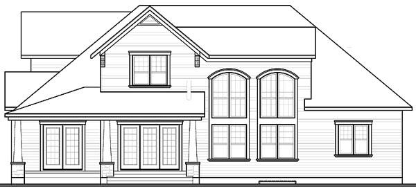 House Plan 65104 | Traditional Style Plan with 3136 Sq Ft, 4 Bedrooms, 4 Bathrooms, 3 Car Garage Rear Elevation