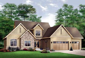 House Plan 65105 | Traditional Style House Plan with 3719 Sq Ft, 3 Bed, 4 Bath, 3 Car Garage Elevation